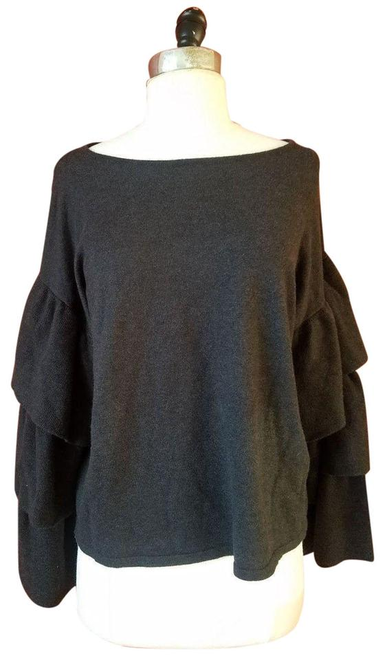 4749141e Zara New White Soft Jumper Dark Gray Sweater - Tradesy