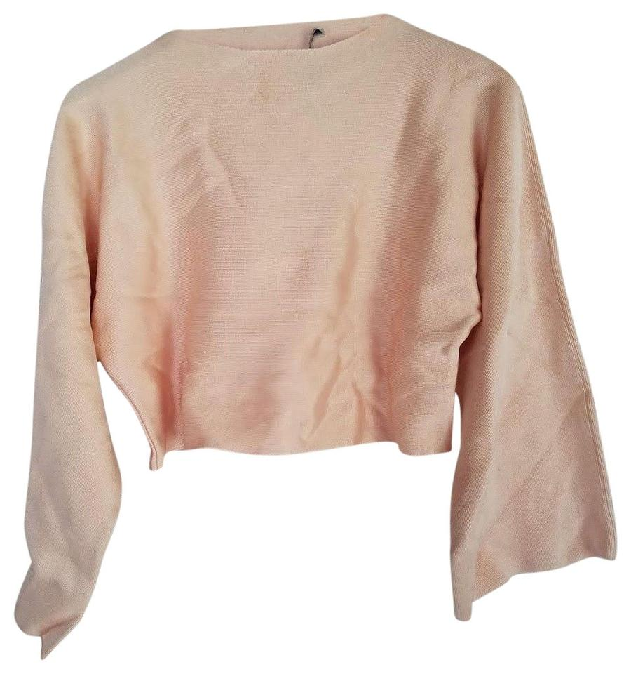 bfe46fcd8c5ad0 Zara Light Pink New Summer Spring Blush Bell Wide Sleeve Knit Crop ...