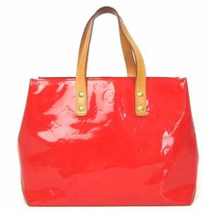 Louis Vuitton Shine Monogram Speedy Vernis Neverfull Tote in red