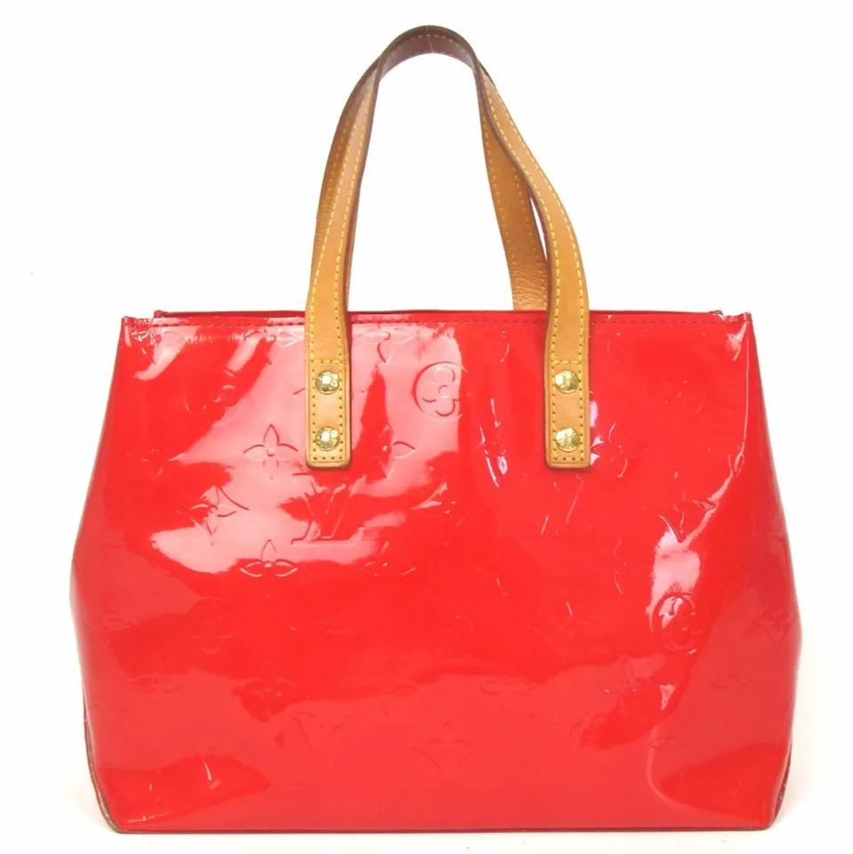 5cd3ed69f Louis Vuitton Reade Monogram Vernis Pm Red Patent Leather Tote - Tradesy