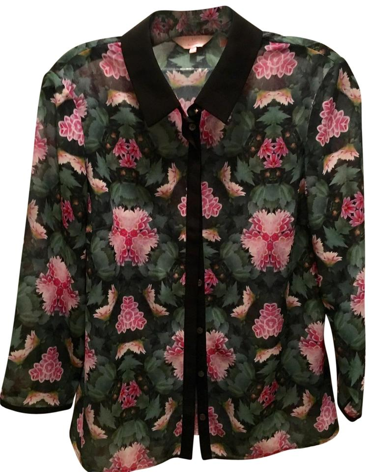 41c065a4b8921 Ted Baker London Blouse Tops Button Down Shirt Floral Image 0 ...