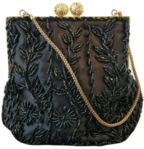 Other Beaded Handbags Beaded Vintage Beaded Satchel in Black