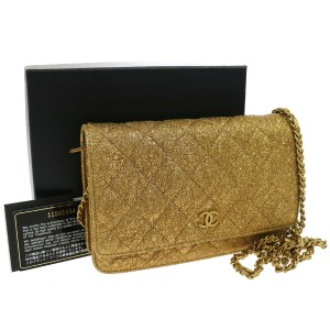 Chanel Woc Wallet Lizard Lizard Shoulder Bag