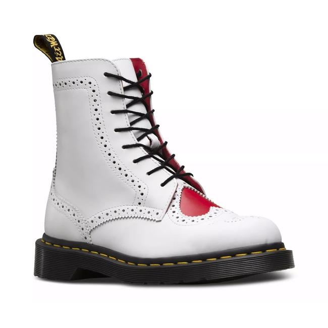 Item - White Bentley Ii White+heart Red Leather Lace-up Boots/Booties Size US 8.5 Regular (M, B)