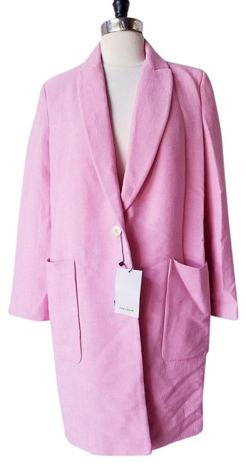 Item - Pink New Bubble Gum Textured Weave M Coat Size 10 (M)