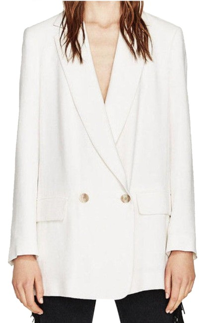 Item - White New Career Business Sleeve Jacket Blazer Coat Size 2 (XS)