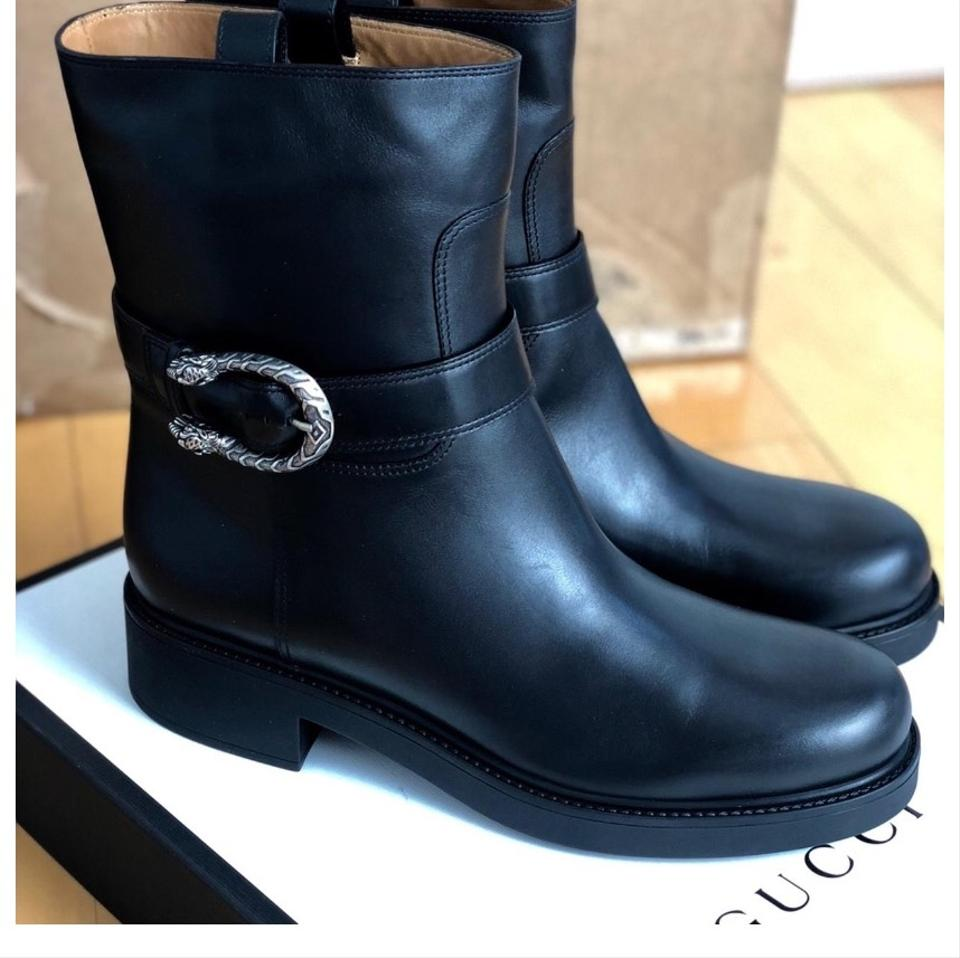 3bd6fbe59ae Gucci Dionysus Leather Ankle Boots Booties Size EU 38 (Approx. US 8 ...
