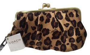 Coach Leopard Clutch