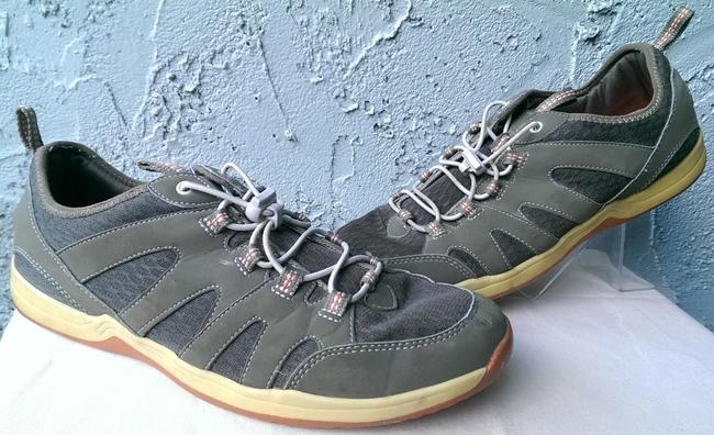 Item - Grey White Yellow Man's Synthetic Comfort Walking Trail Sneaker 11ee Shoes