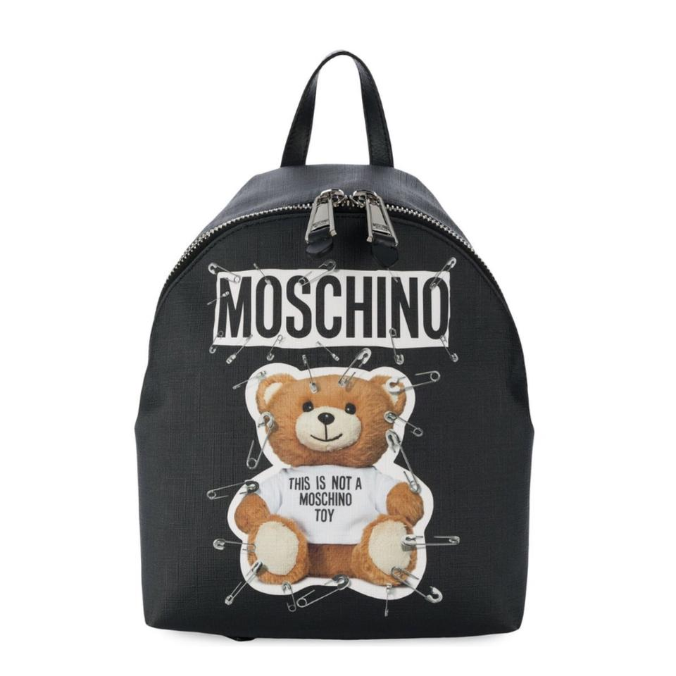 Moschino Teddy Bear Pin Logo Printed Backpack - Tradesy 98216dc7d42ed