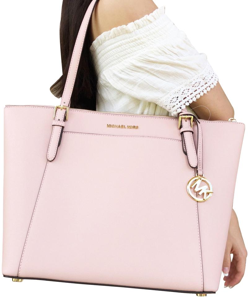 2c5430477f61 Michael Kors Ciara Large East West Top Zip Pastel Saffiano Pink ...