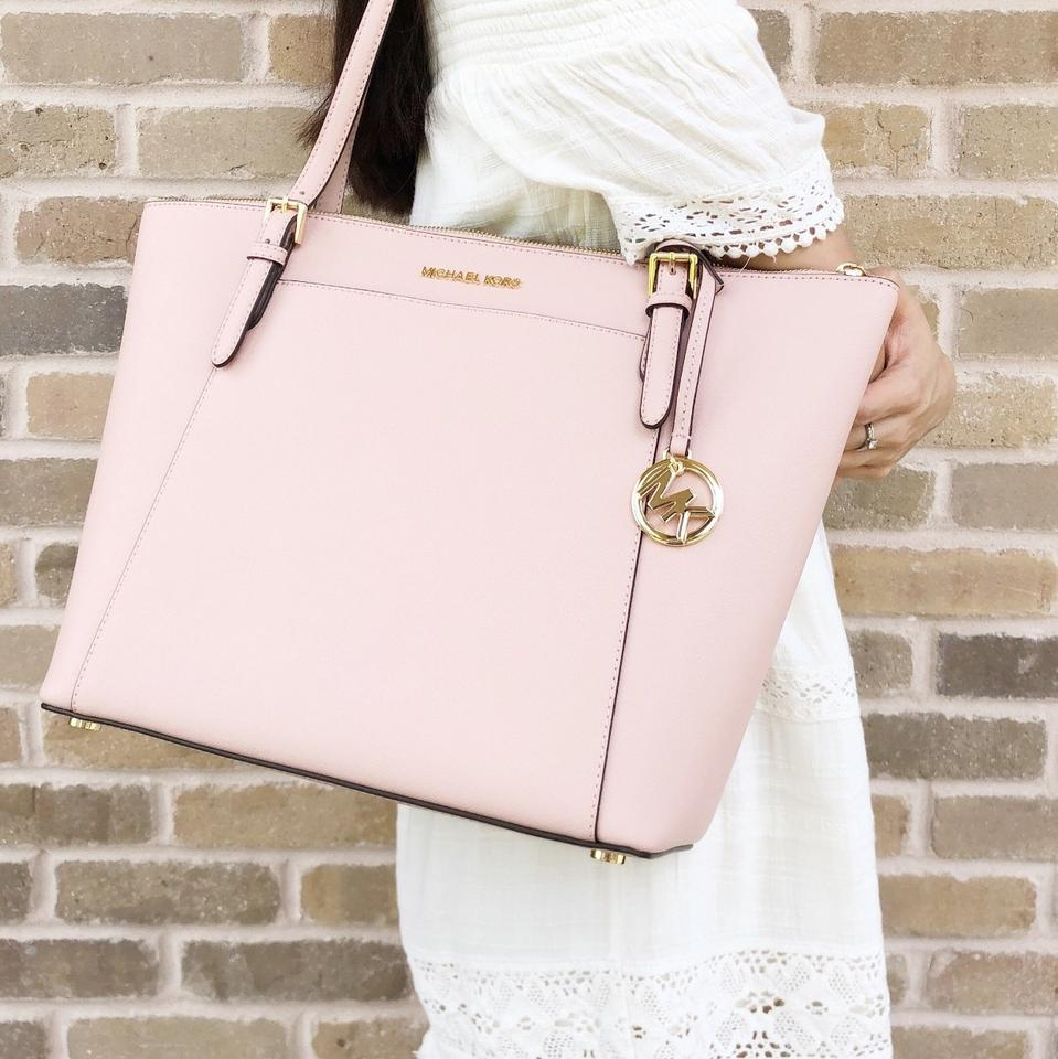 3a5e3a86bdeb Michael Kors Ciara Large East West Top Zip Pastel Saffiano Pink Leather  Tote - Tradesy