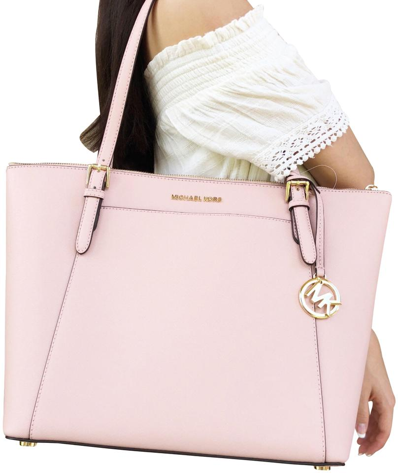 280b1fd26dd1 Michael Kors East West Ciara Large Top Zip Tote Pastel Saffiano Pink ...