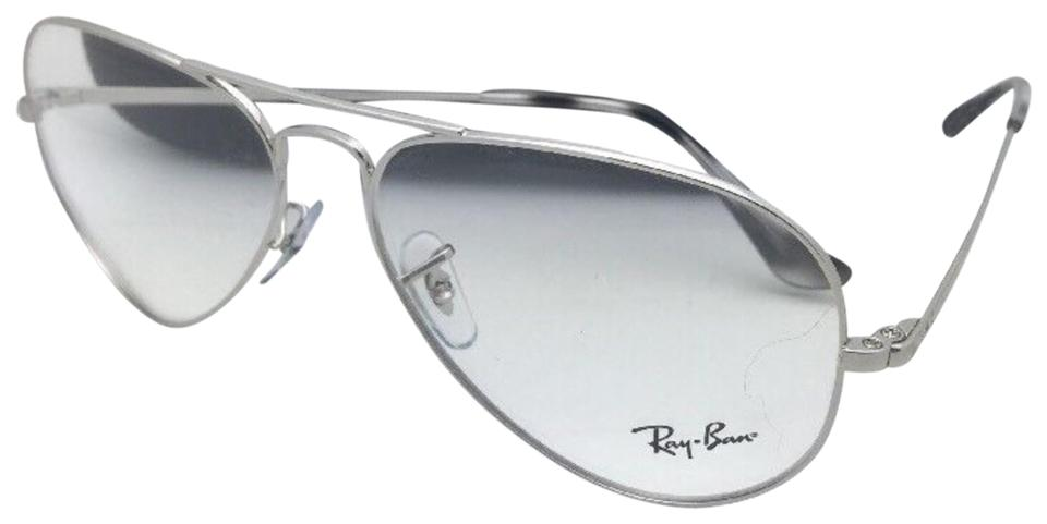 a70b7b52215 Ray-Ban New Aviator Classic Rx-able Rb 6489 2501 55-14 Silver Frames ...