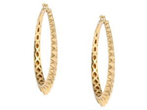 Stephen Webster GOLD PLATED STERLING SILVER VERMEIL SUPERSTUD HOOP EARRINGS