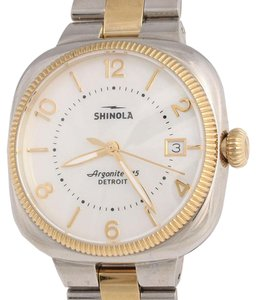 Shinola STAINLESS & GOLD TWO TONE GOMELSKY WATCH 36MM