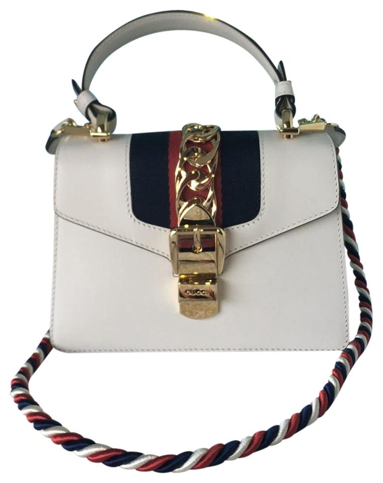 d18cad8d034d Gucci Sylvie Mini Chain Rope White Leather Shoulder Bag - Tradesy