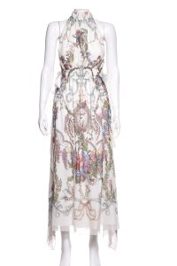 Multicolor Maxi Dress by Fendi