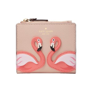 Kate Spade Kate Spade By The Pool Flamingo Adalyn Leather Wallet