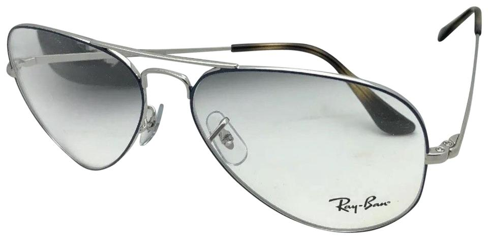 e078c1f0d Ray-Ban New Aviator Rx-able Rb 6489 2970 58-14 140 Silver & Blue ...