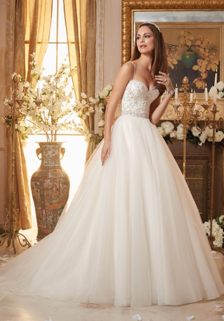 Item - Ivory Tulle 5463 Traditional Wedding Dress Size 14 (L)