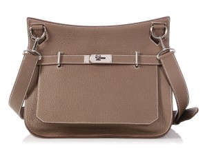 Hermès Hr.p1002.03 Taupe Palladium 2012 Cross Body Bag