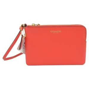 Coach 51197 Accessories Saffiano Leather Wristlet in Love Red
