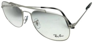 Ray-Ban New RAY-BAN Aviators Eyeglasses THE GENERAL RB 6389 2501 57-16 145 Sil