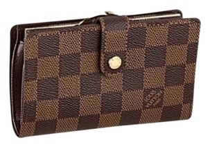 Louis Vuitton French Damier Ebene Kisslock Biofold Wallet