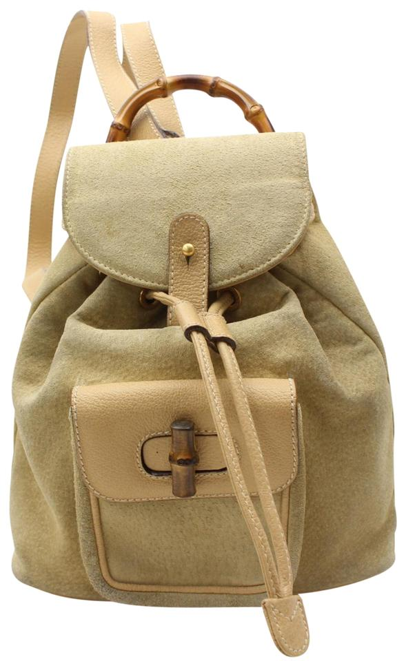Gucci Suede Bamboo Yellow Leather Backpack - Tradesy 93d1dd369ffc7