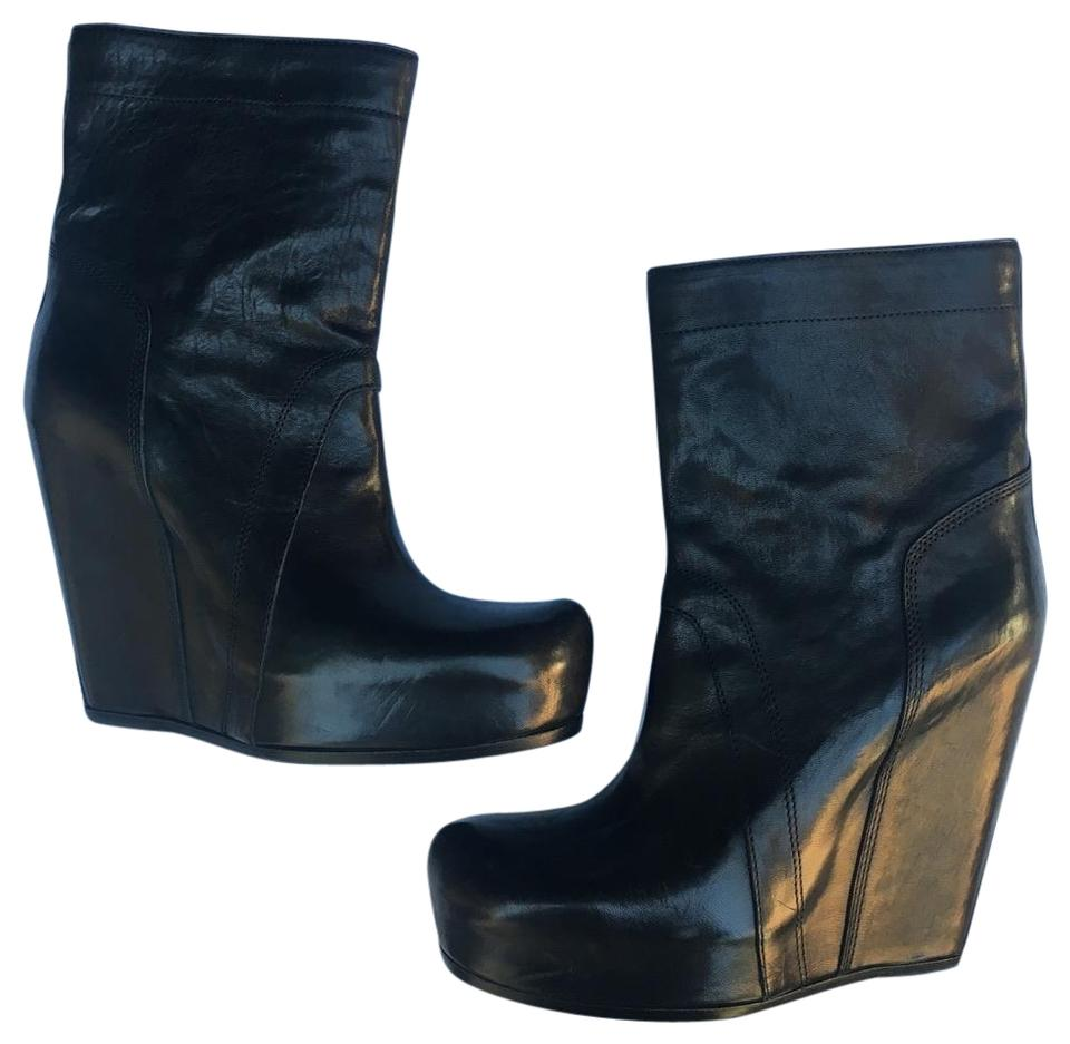 0c4b046b6a6 Rick Owens Leather Platform Wedges Boots Booties Size EU 38 (Approx ...