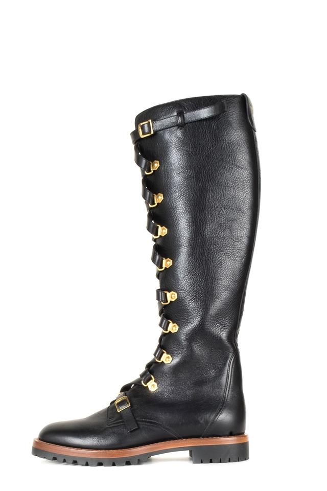 35698bb2dd4 Dior Black Christian Leather Wildior Boots Booties Size EU 38 ...
