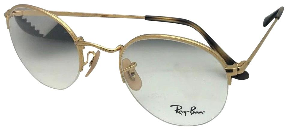 7cdddb8d5053 Ray-Ban New Rx-able Rb 3947v 2500 48-22 140 Round Semi Rimless Gold ...