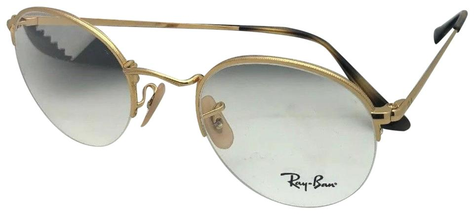 425ab6e1d67 Ray-Ban New Rx-able Rb 3947v 2500 51-22 145 Round Semi Rimless Gold ...