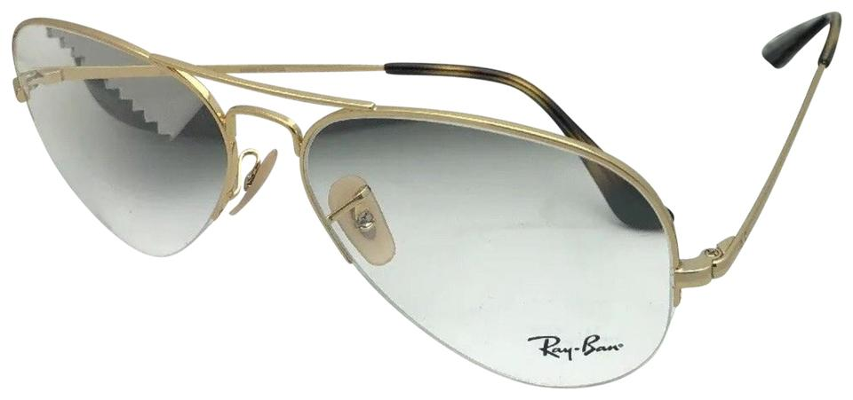 c4d53dc00 Ray-Ban New Rb 6589 2500 59-15 140 Aviator Semi Rimless Gold Frame ...