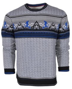 Robert Graham Multicolor New Men's Hit The Slopes Wool Crewneck Sweater Shirt