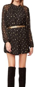 FRAME short dress black with gold accents on Tradesy