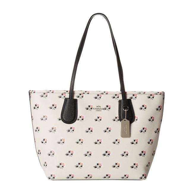 Item - Taxi Bramble Rose Floral Leather Tote
