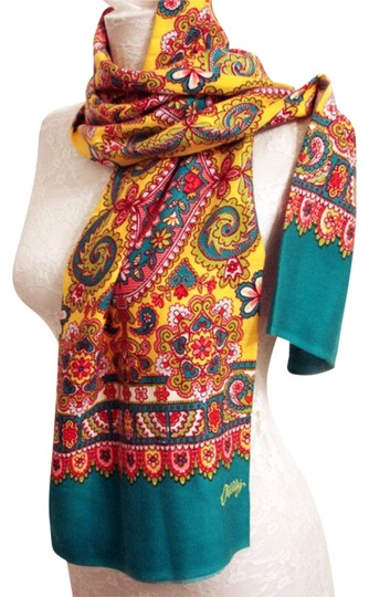 Preload https://img-static.tradesy.com/item/24327040/oilily-multicolor-new-paisley-floral-51-scarfwrap-0-3-540-540.jpg