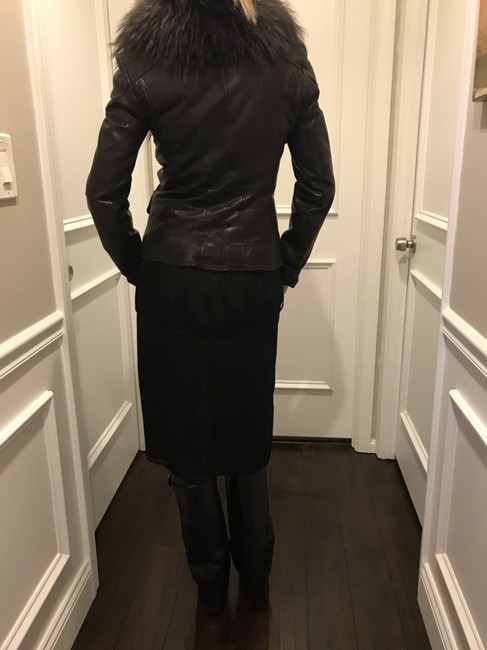 Other Black/Gray Leather Jacket