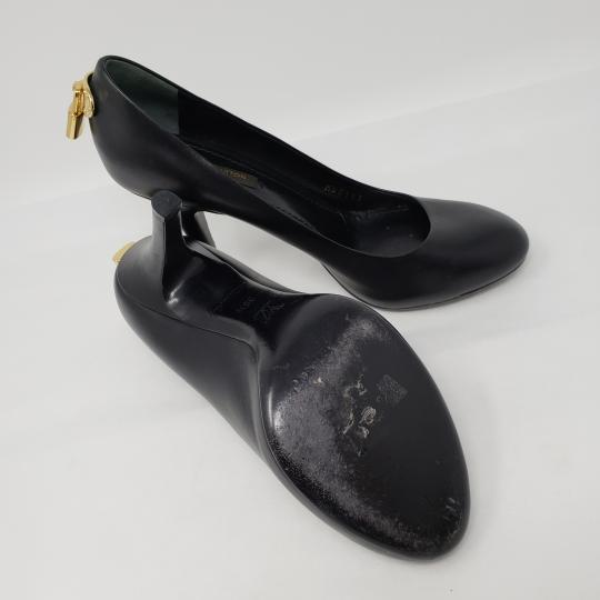 Louis Vuitton Oh Really Lock Lv Gold Hardware Logo Black Pumps