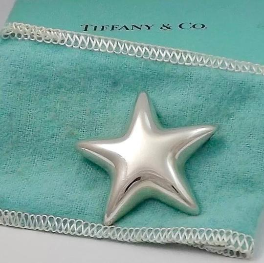 Tiffany & Co. Sterling Silver Puffy Puffed Star Brooch Pin