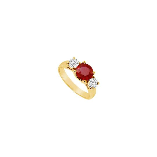 Preload https://img-static.tradesy.com/item/24327172/red-three-stone-created-ruby-and-cubic-zirconia-14k-yellow-gold-125-ring-0-0-540-540.jpg