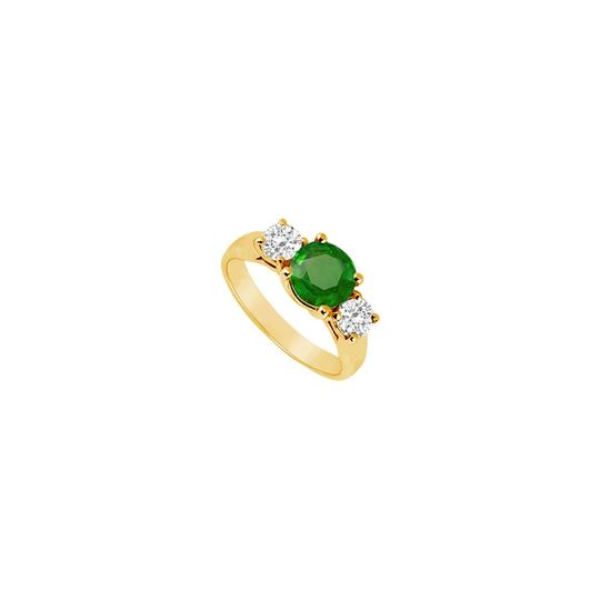 Preload https://img-static.tradesy.com/item/24327184/green-three-stone-created-emerald-and-cubic-zirconia-14k-yellow-gold-1-ring-0-0-540-540.jpg