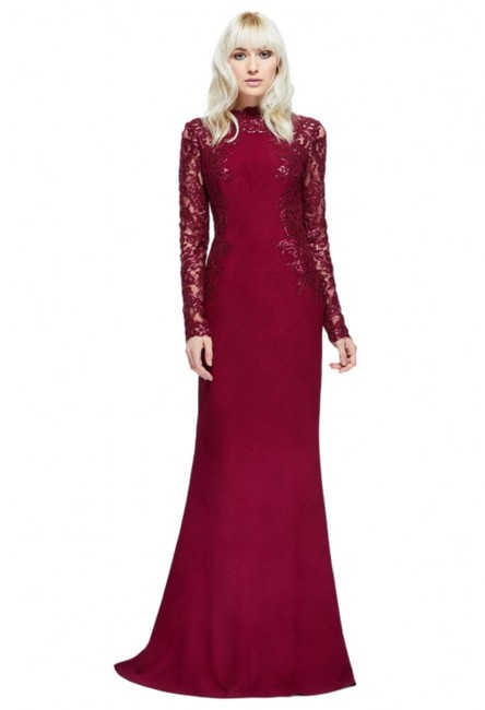 Preload https://img-static.tradesy.com/item/24327190/tadashi-shoji-winemaroon-felicity-lace-and-sequin-sleeve-gown-long-formal-dress-size-2-xs-0-0-650-650.jpg
