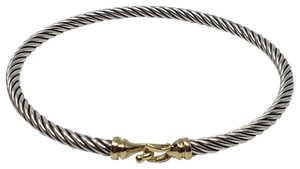 David Yurman 18K yellow gold sterling silver David Yurman Cable bracelet