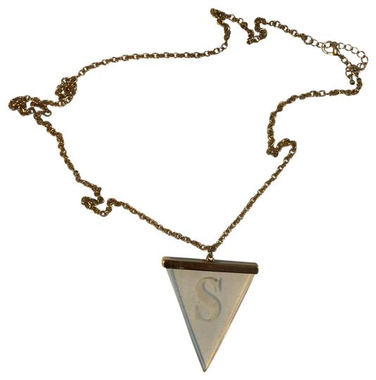 Preload https://img-static.tradesy.com/item/24327279/yellow-gold-triangle-with-the-letter-s-necklace-0-4-540-540.jpg