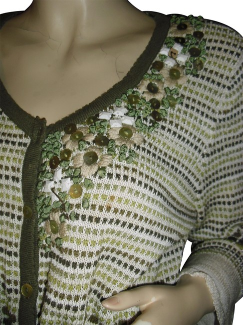 Preload https://img-static.tradesy.com/item/24327307/niczoe-olive-green-nic-and-zoe-pearly-buttons-ribbon-art-mother-of-pearl-unique-cardigan-size-16-xl-0-1-650-650.jpg