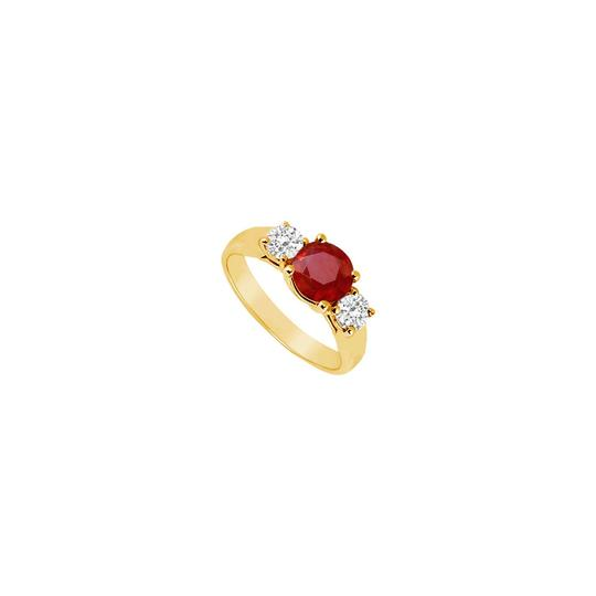 Preload https://img-static.tradesy.com/item/24327311/red-three-stone-created-ruby-and-cubic-zirconia-14k-yellow-gold-050-ring-0-0-540-540.jpg