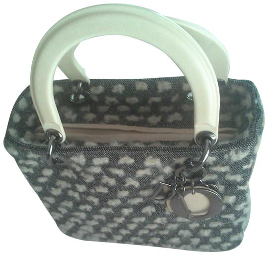 Preload https://img-static.tradesy.com/item/24327328/dior-lady-dior-grey-and-beige-tweed-and-bakelite-tote-0-1-540-540.jpg